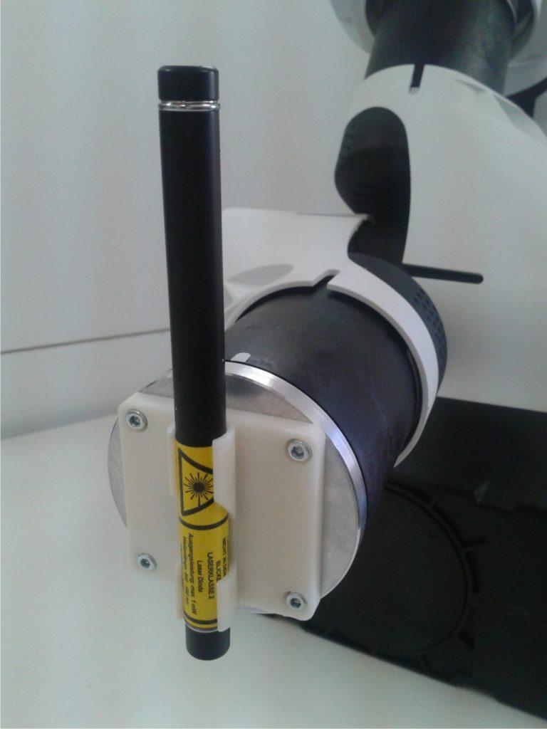 Halterung für Laserpointer für Roboter e.Do