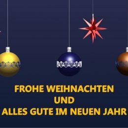 Frohe Weihnacht und einen guten Start in 2019