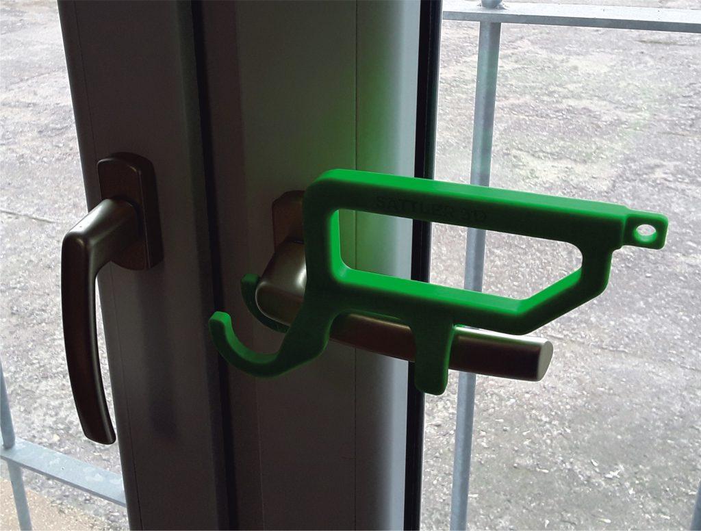 Hygienic Handle im Einsatz am Fensterriegel